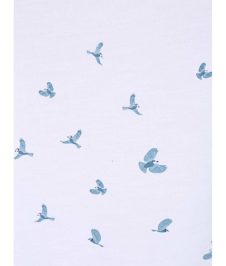 Bílé tílko s ptáčky Brakeburn Bird