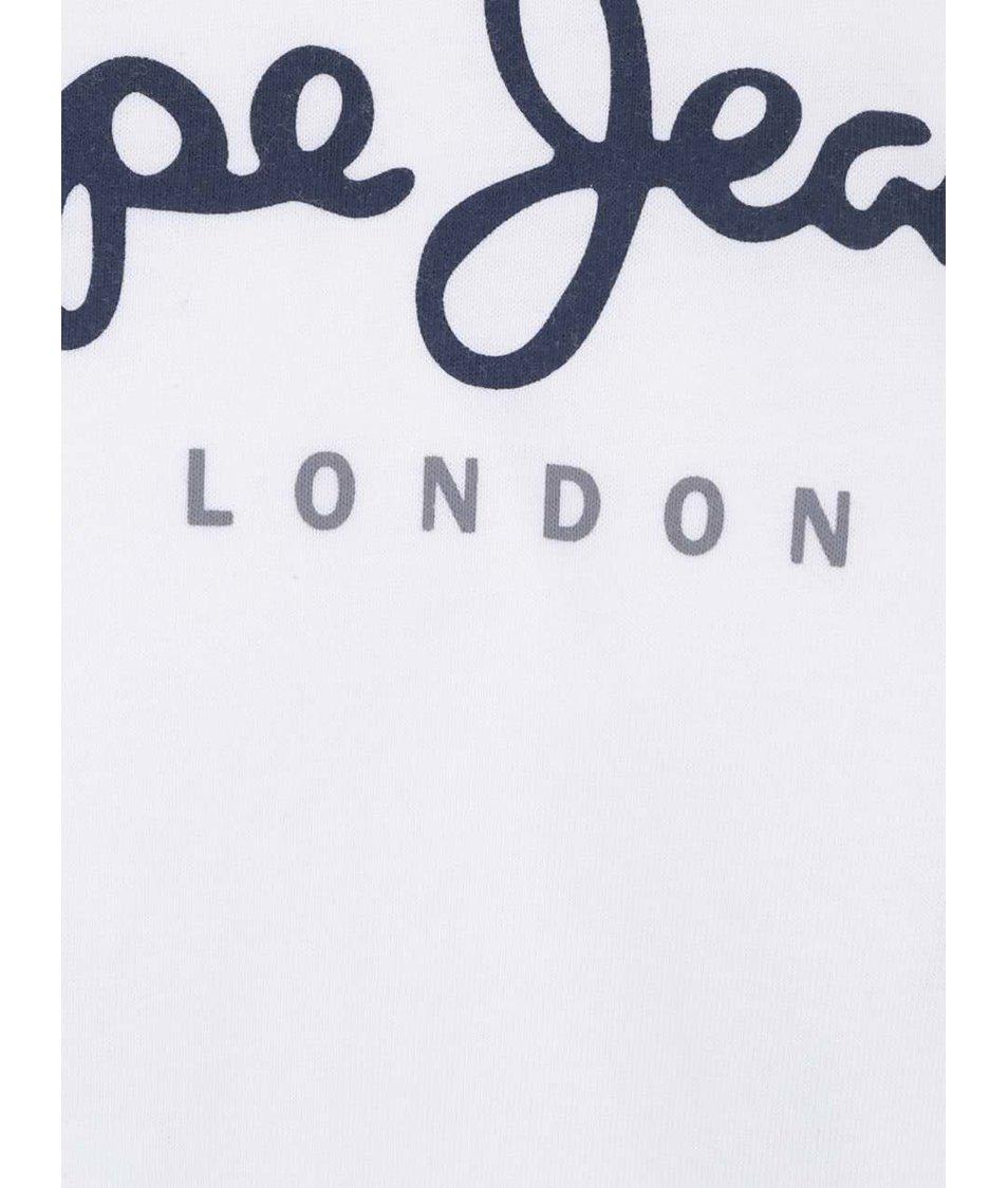 Bílé pánské triko s nápisem Pepe Jeans Eggo
