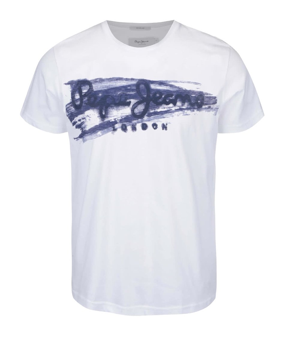 Bílé pánské triko Pepe Jeans Waterloo