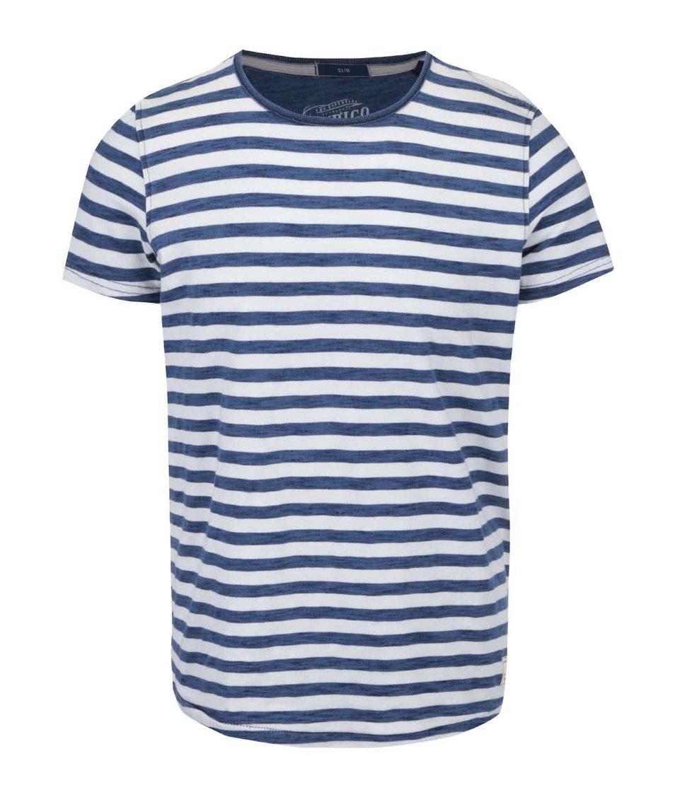 Modro-bílé pánské triko Pepe Jeans Armadale