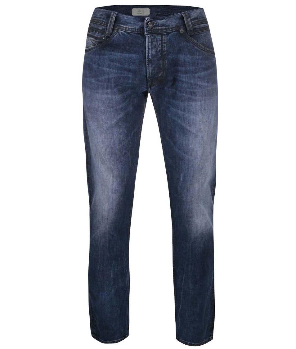 Tmavě modré pánské slim džíny Pepe Jeans Spike - SLEVA!  ab5afed9b1