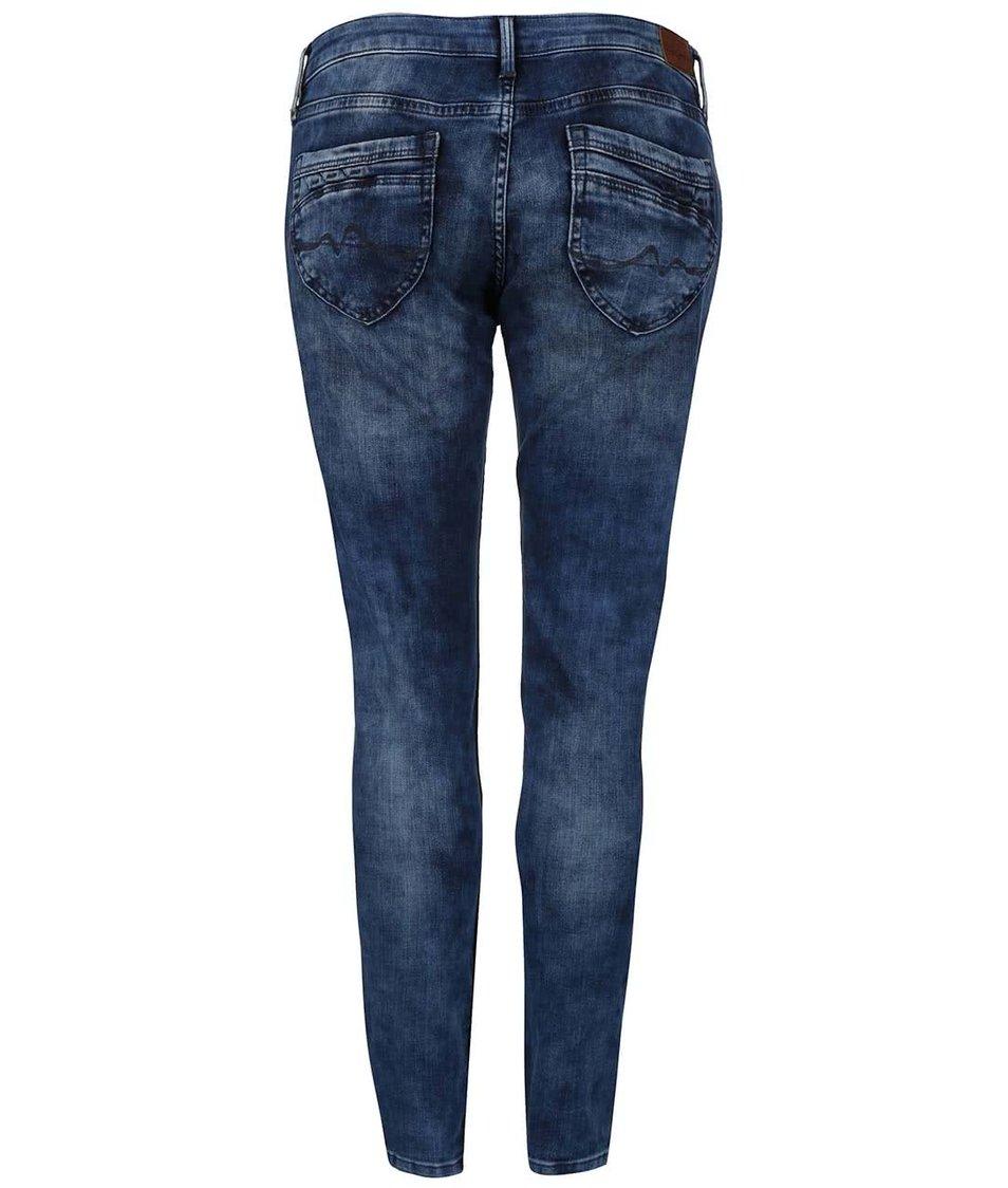 Modré dámské džíny s nízkým pasem Pepe Jeans Ripple