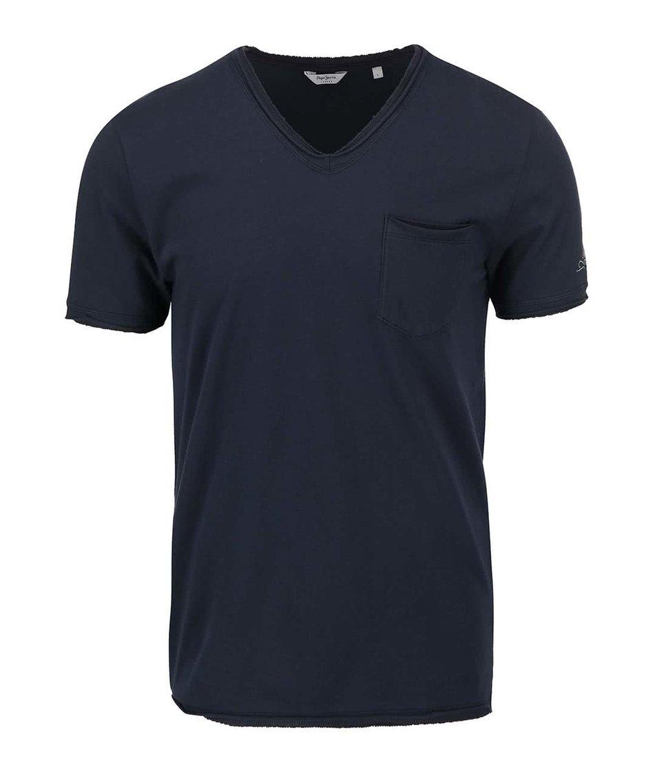 Modré pánské triko s kapsou Pepe Jeans Dick
