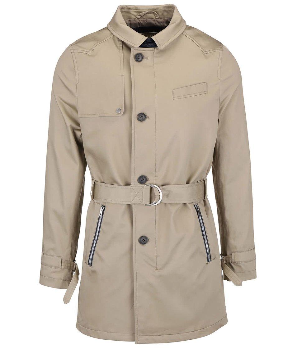 Krémový kabát Bertoni Lund