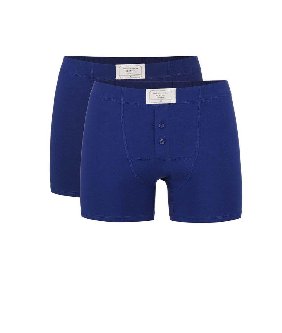 Sada dvou tmavě modrých denimových boxerek Bertoni Dan