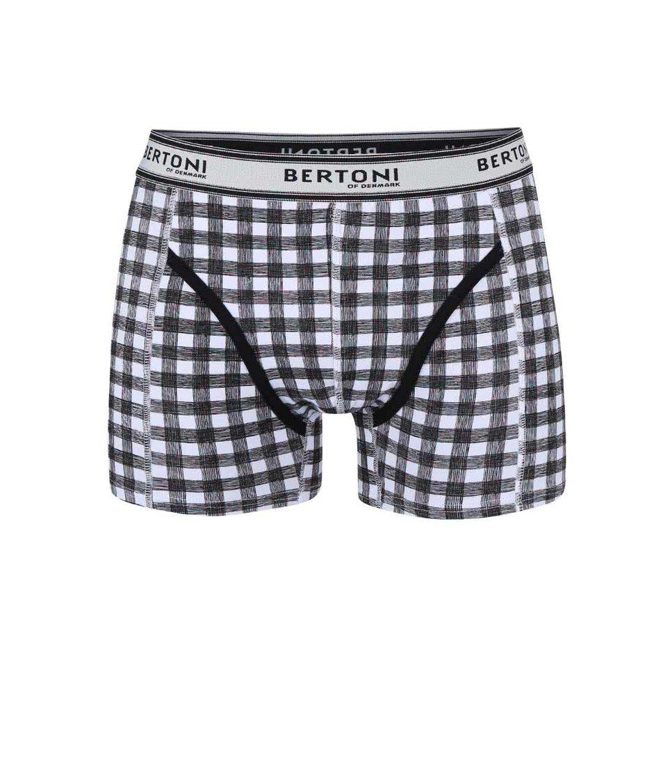 Černé kostkované boxerky Bertoni Vagn