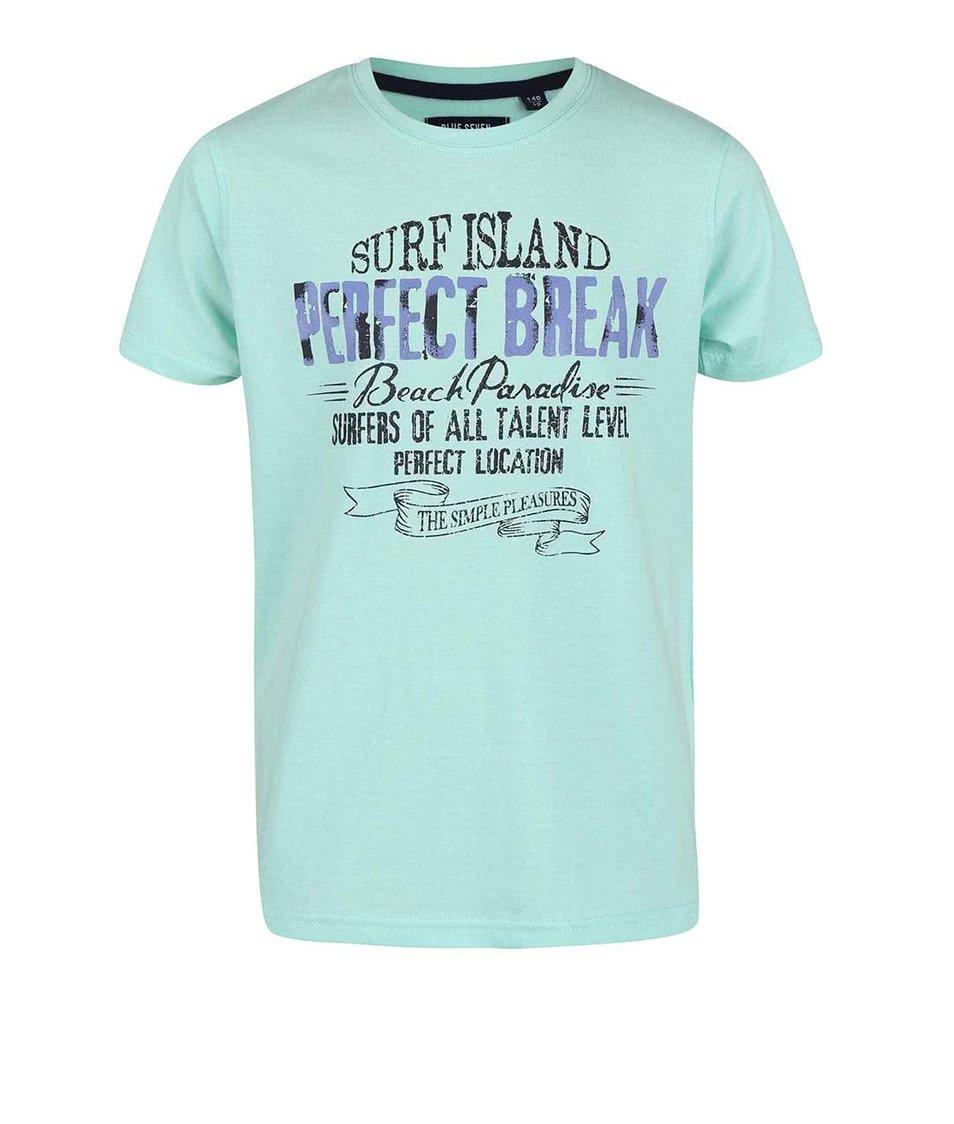 Modrozelené klučičí triko s nápisem Blue Seven