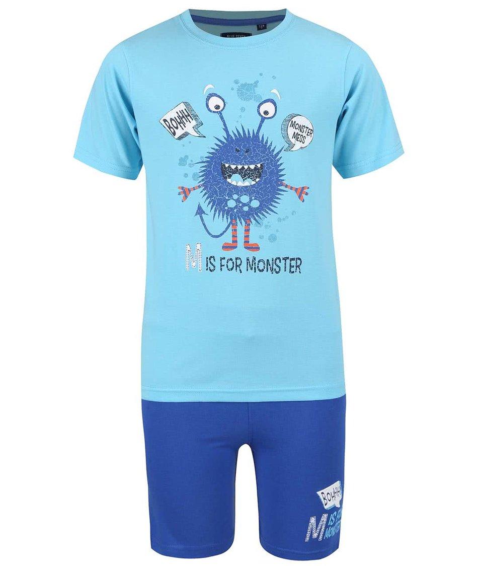 Modrý klučičí set triko s kraťasy Blue Seven