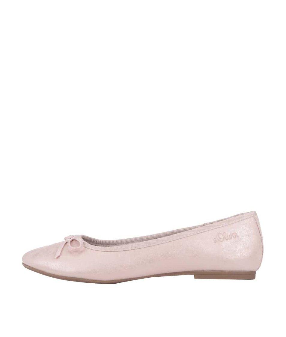 Světle růžové balerínky s.Oliver