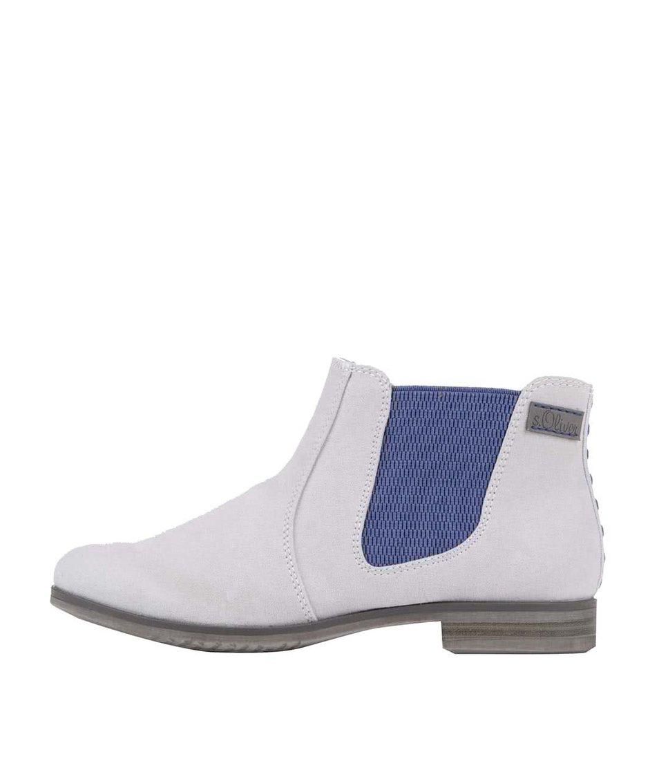 Šedé dámské kotníkové boty s.Oliver