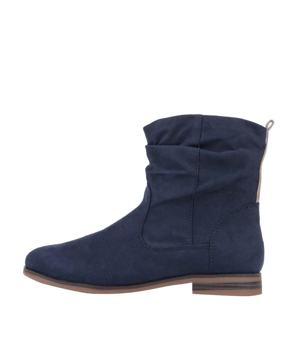 Tmavě modré dámské kotníkové boty s.Oliver