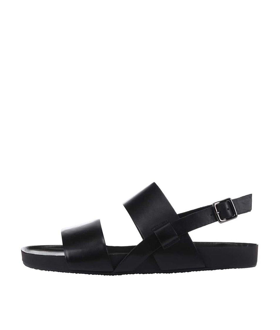 Černé kožené pánské sandály Vagabond Funk