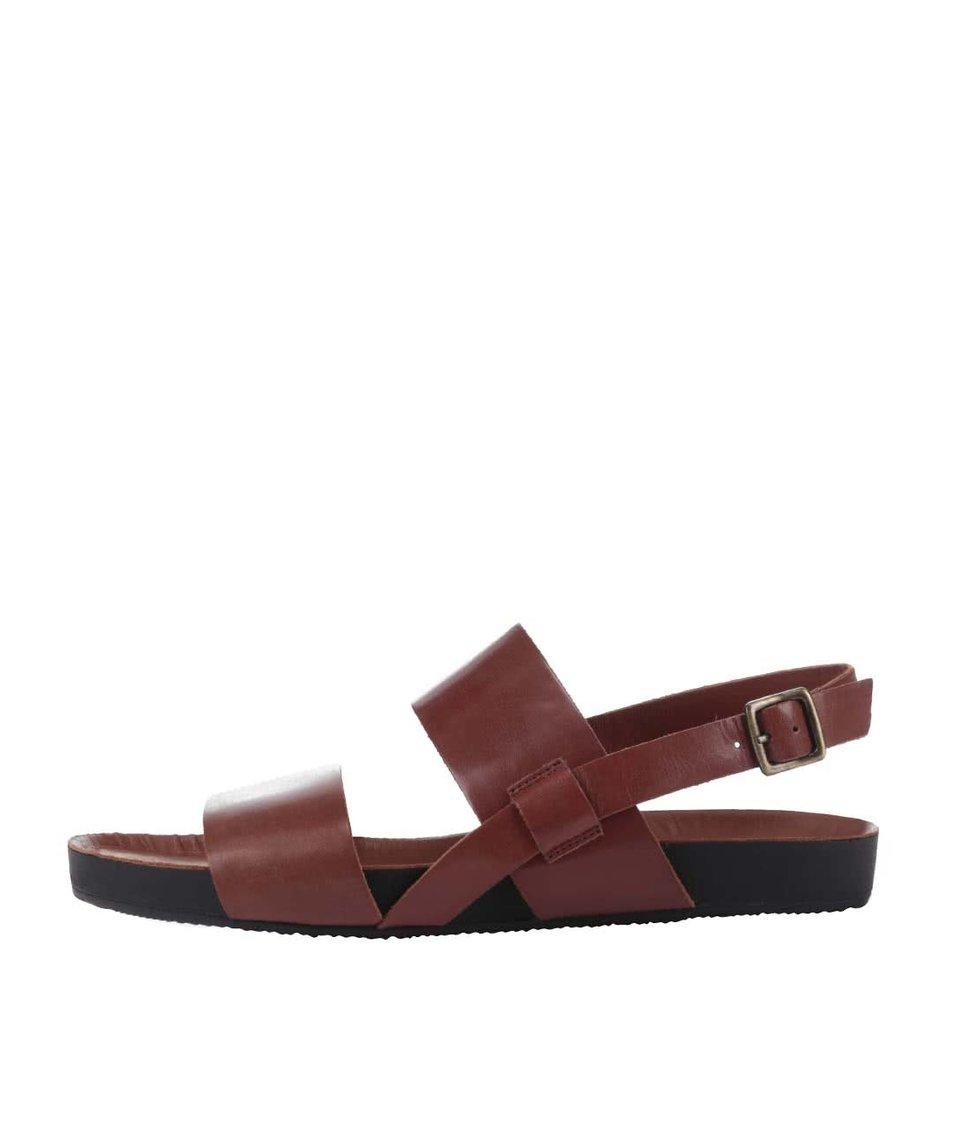 Hnědé kožené pánské sandály Vagabond Funk