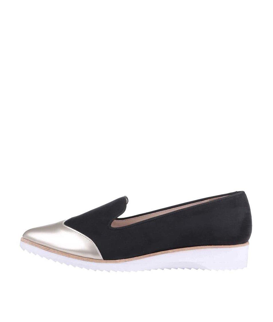 Černé loafers s metalickou špičkou OJJU