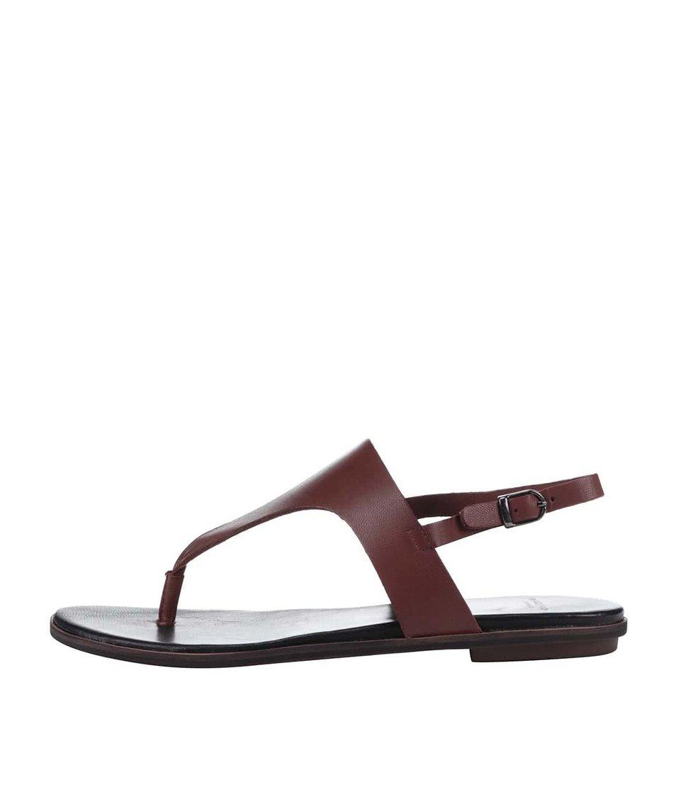 Hnědé kožené sandále Vagabond Natalia