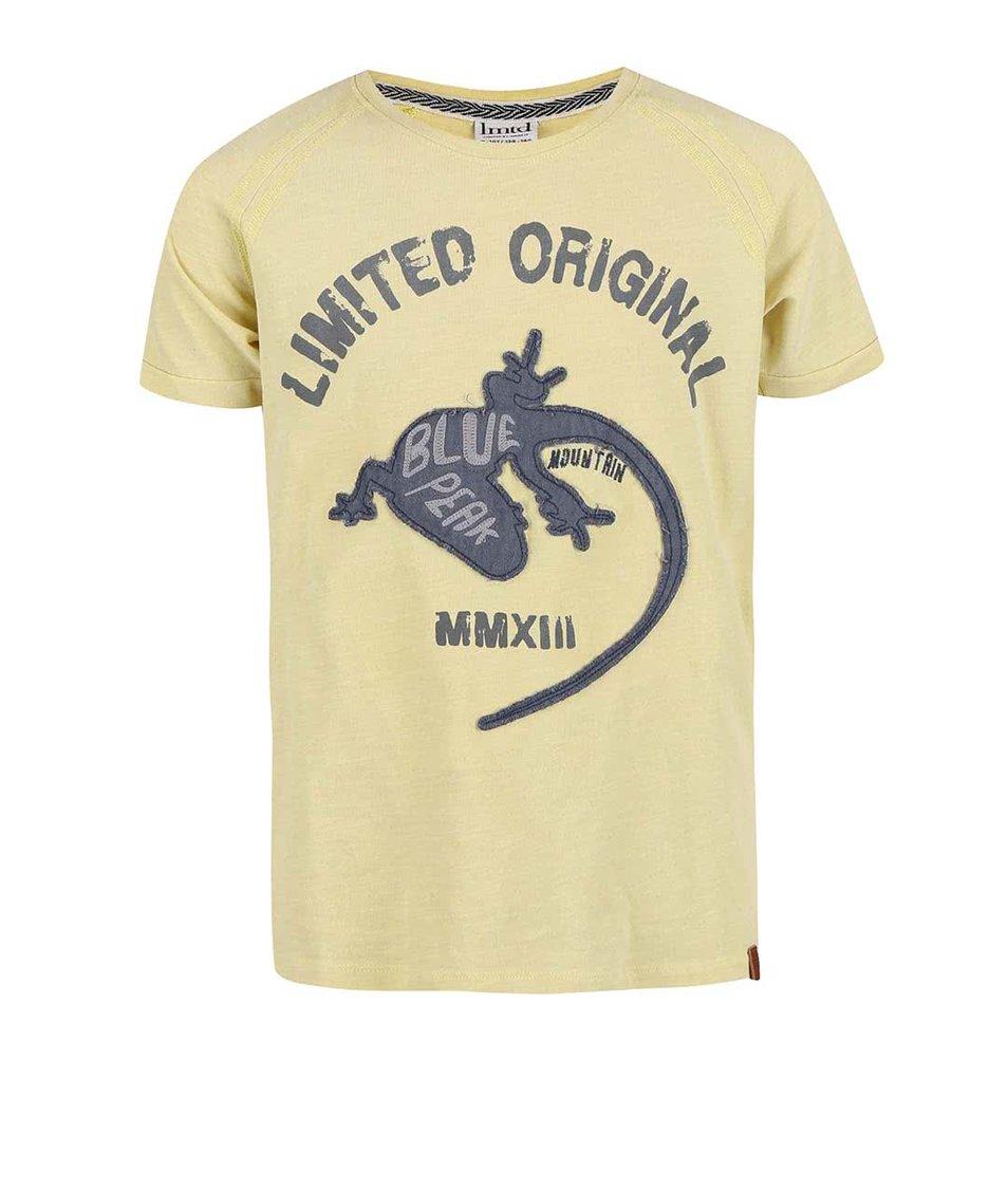 Žluté klučičí tričko s gekonem name it Gilario