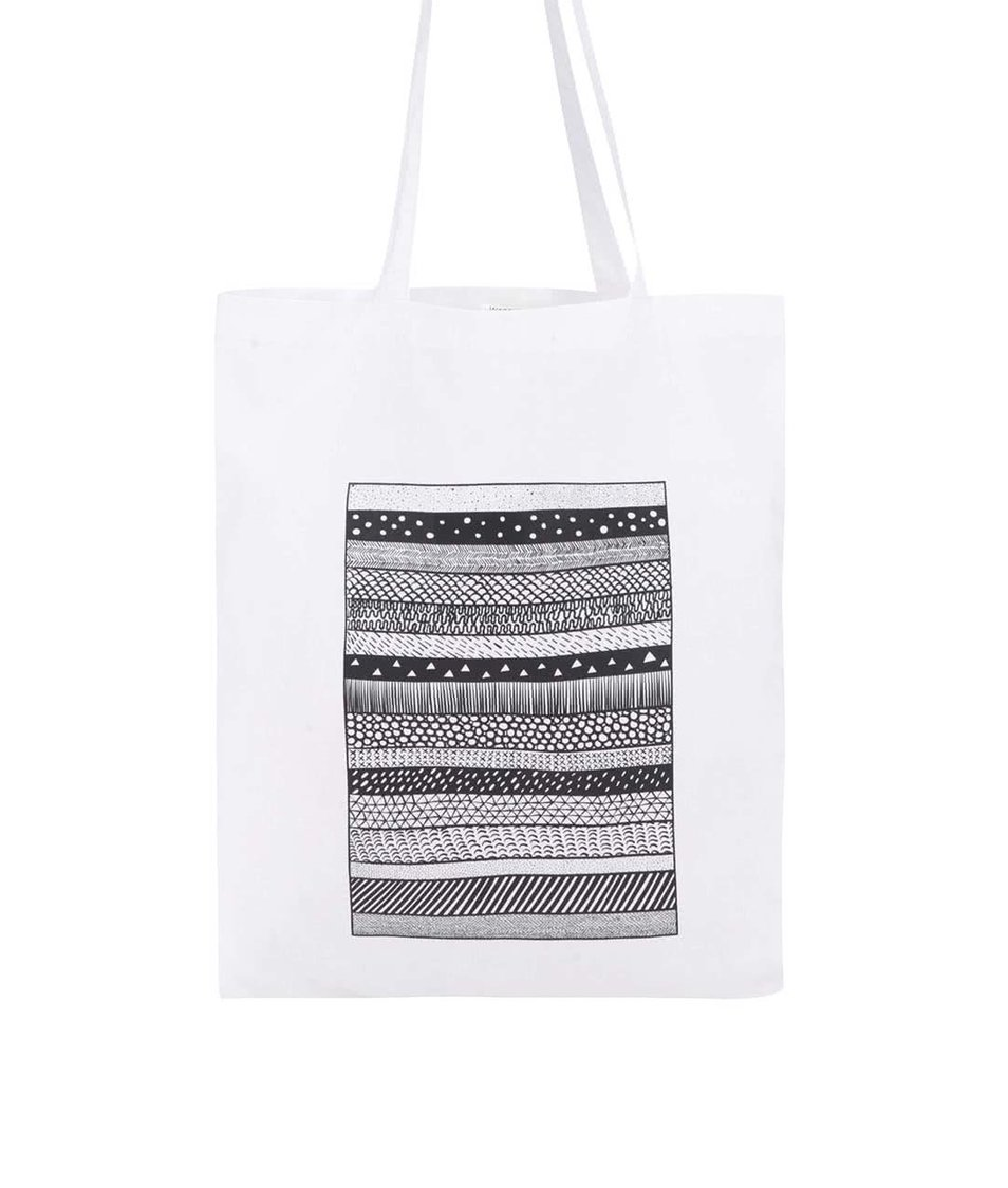 Bílá taška s černým vzorem ZOOT Originál Pattern