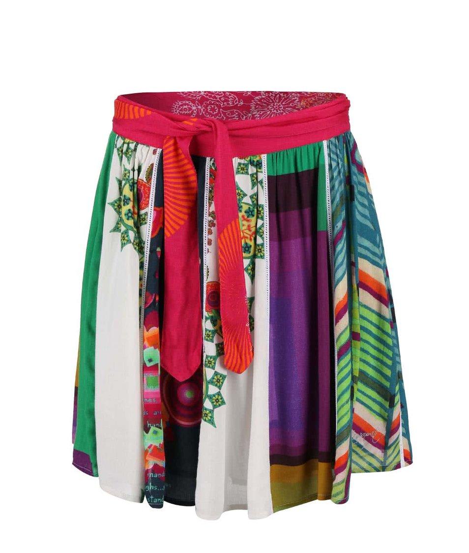 Barevná vzorovaná sukně Desigual Yami
