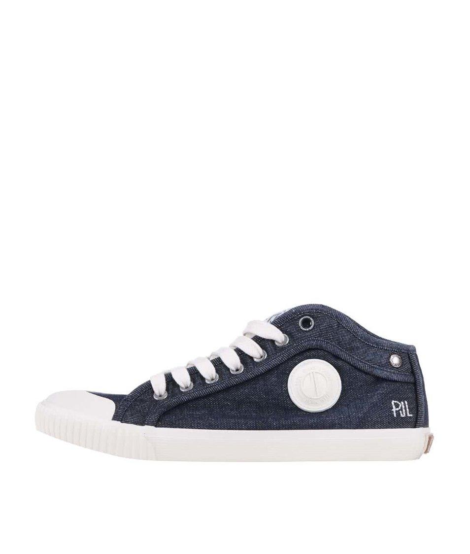 Modré pánské denimové tenisky Pepe Jeans Industry Denim