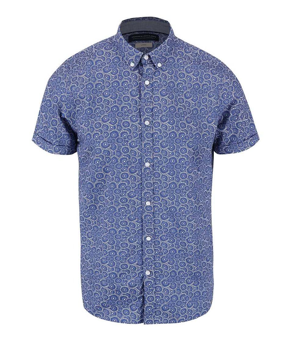 Světle modrá vzorovaná košile Jack & Jones Sun