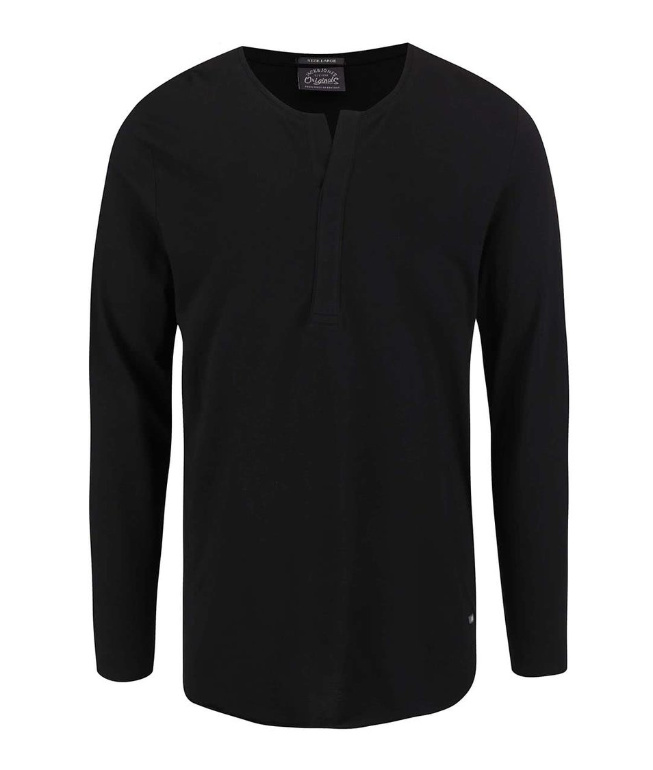 Černé volnější triko Jack & Jones Jordaim