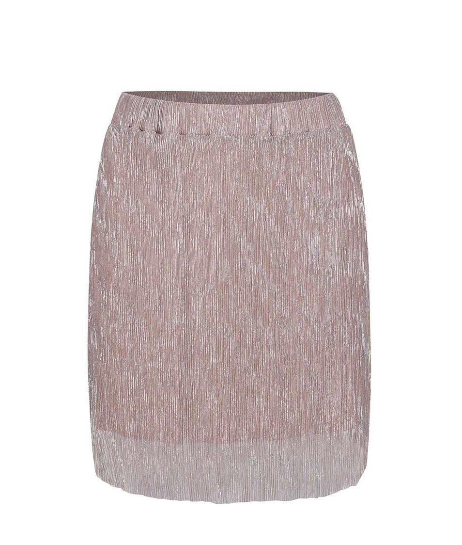 Světle růžová lesklá sukně Alchymi Spinel