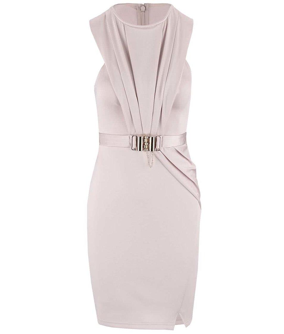 Tělové upnuté šaty s páskem Lipsy