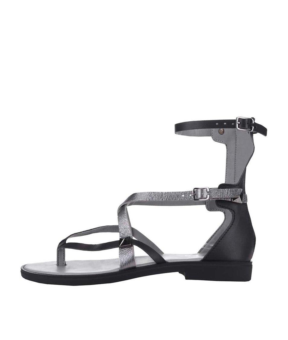 Černé sandálky s pevnou patou Bullboxer