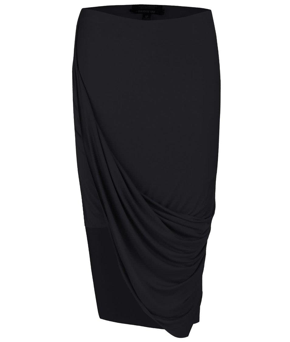 Černá asymetrická sukně Maison Scotch