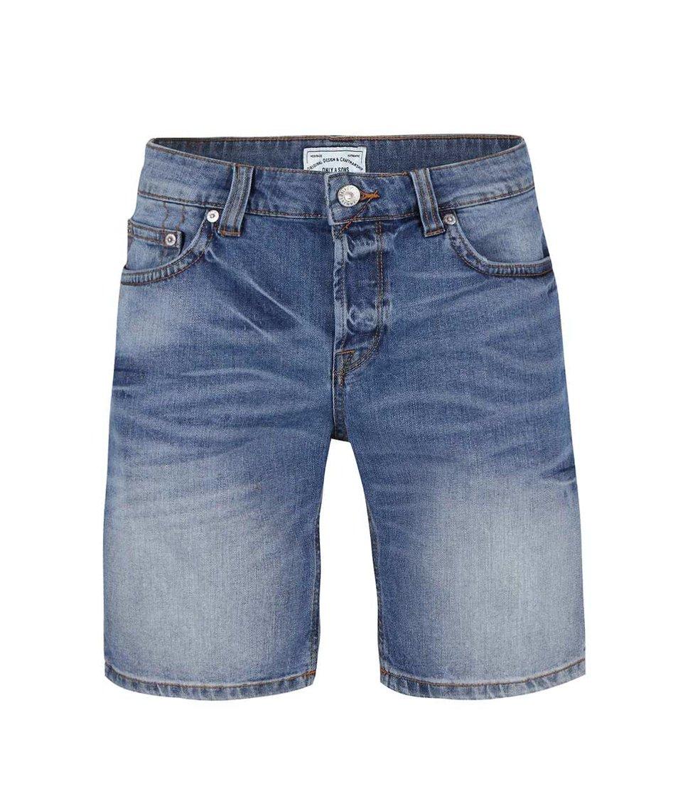 Modré džínové kraťasy ONLY & SONS Loom