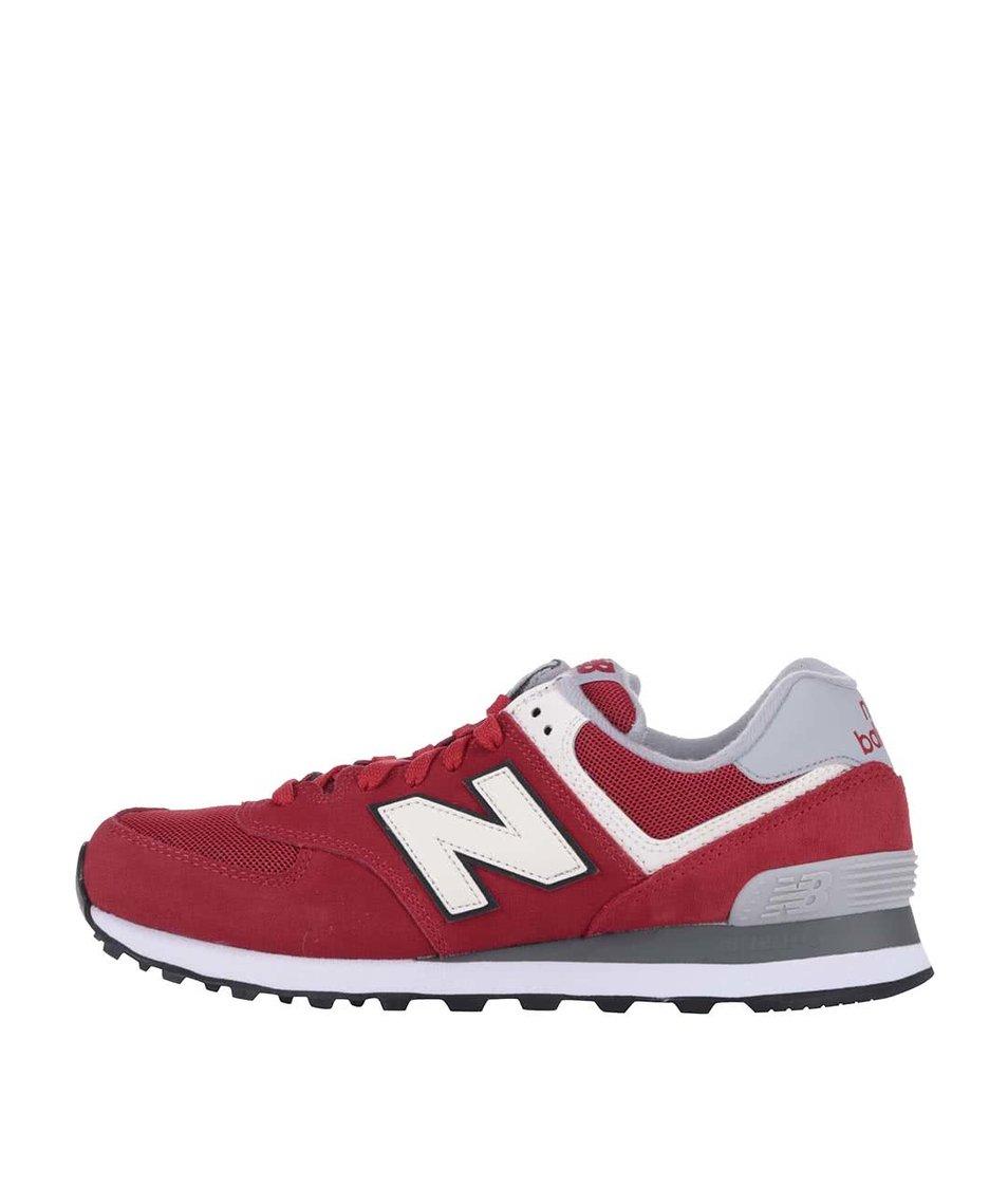 Tmavě červené pánské tenisky s šedou patou New Balance