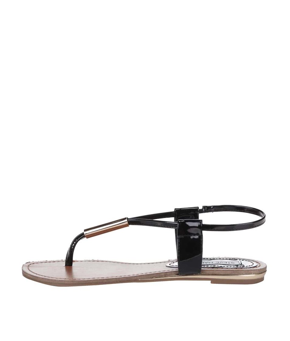 Béžovo-černé dámské sandálky Steve Madden Hammil