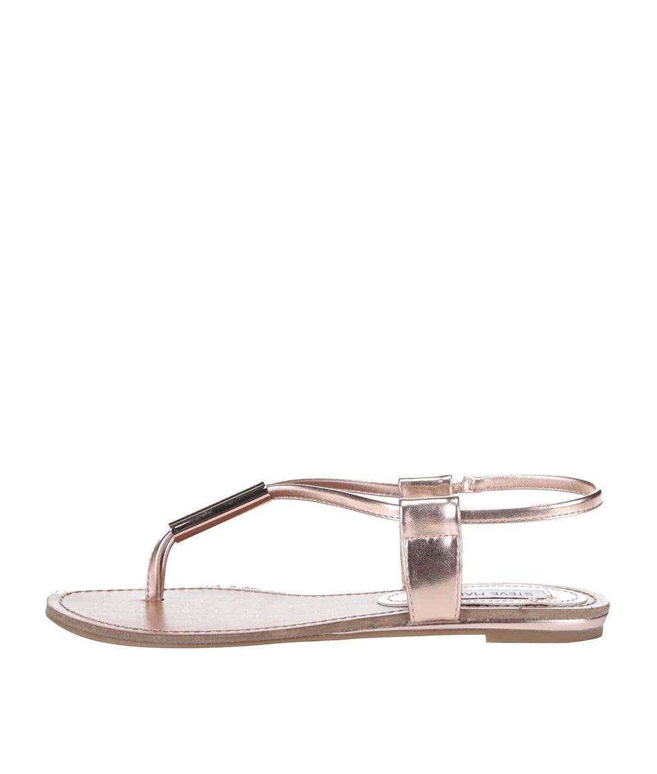 Růžovo-zlaté dámské sandálky Steve Madden Hammil