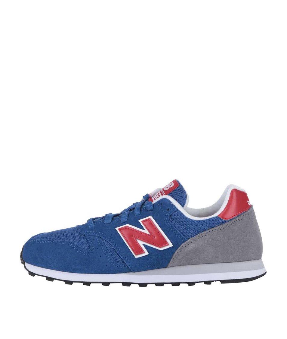 Modré pánské tenisky s šedou patou New Balance