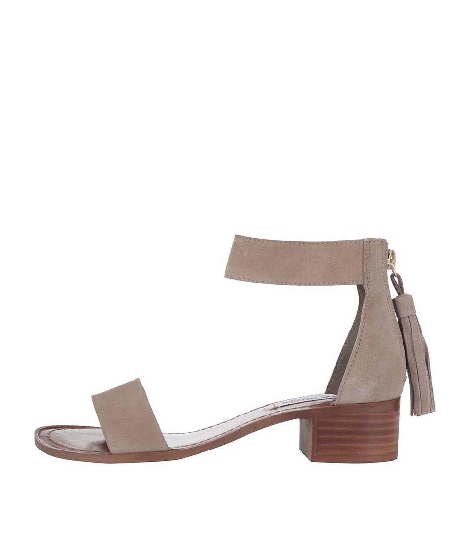 Béžové kožené dámské sandálky Steve Madden Darcie