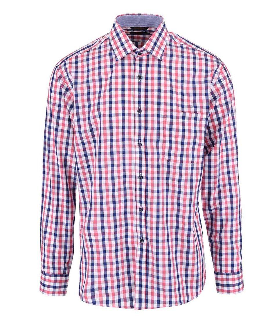 Růžovo-modrá kostkovaná košile Seven Seas Bronx