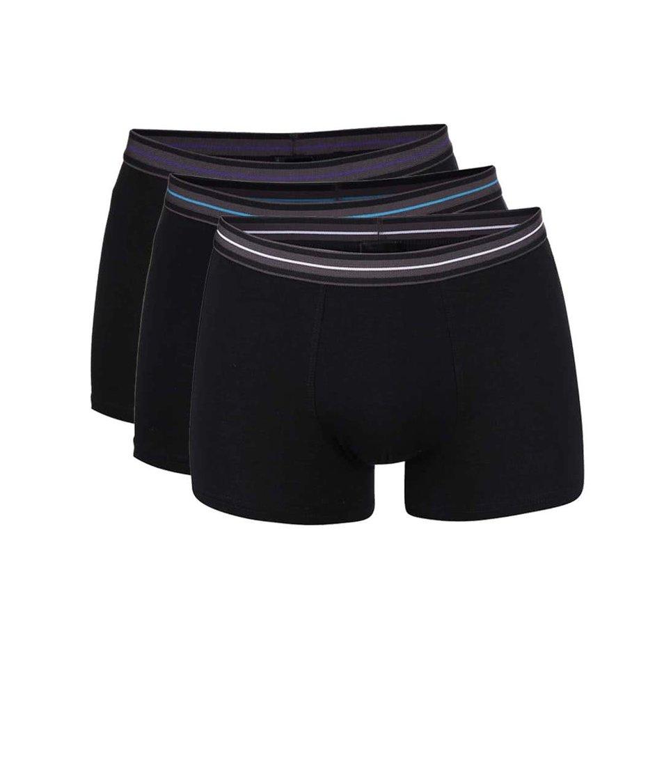 Sada tří boxerek v černé barvě Marginal