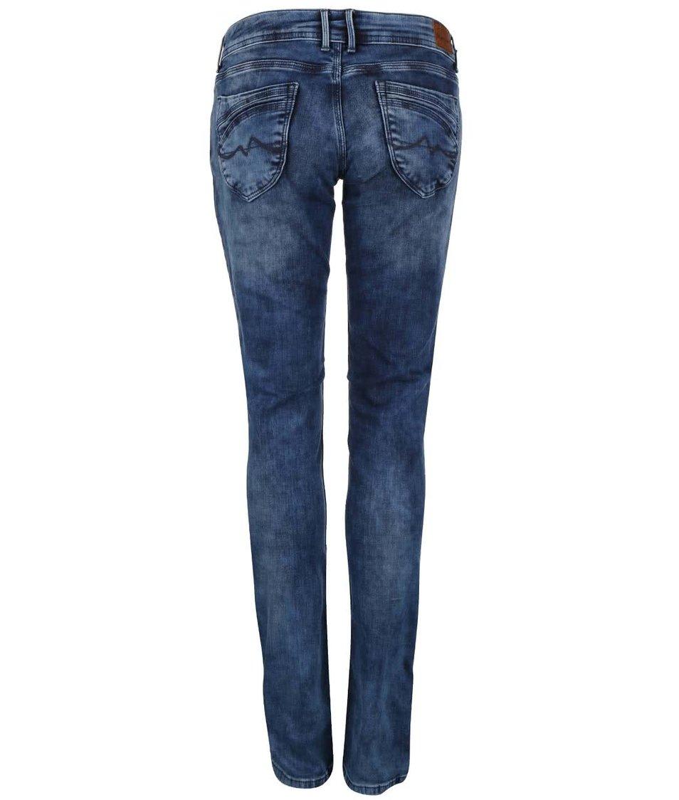 Modré dámské slim fit džíny s nízkým pasem Pepe Jeans Ariel - SLEVA ... 3cd5815e2f