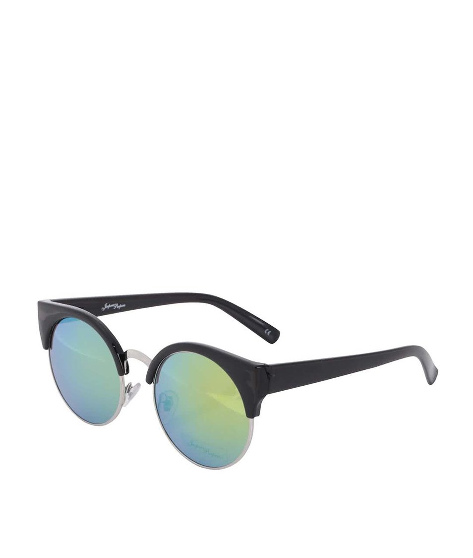 Černé dámské sluneční brýle se zrcadlovými skly Jeepers Peepers