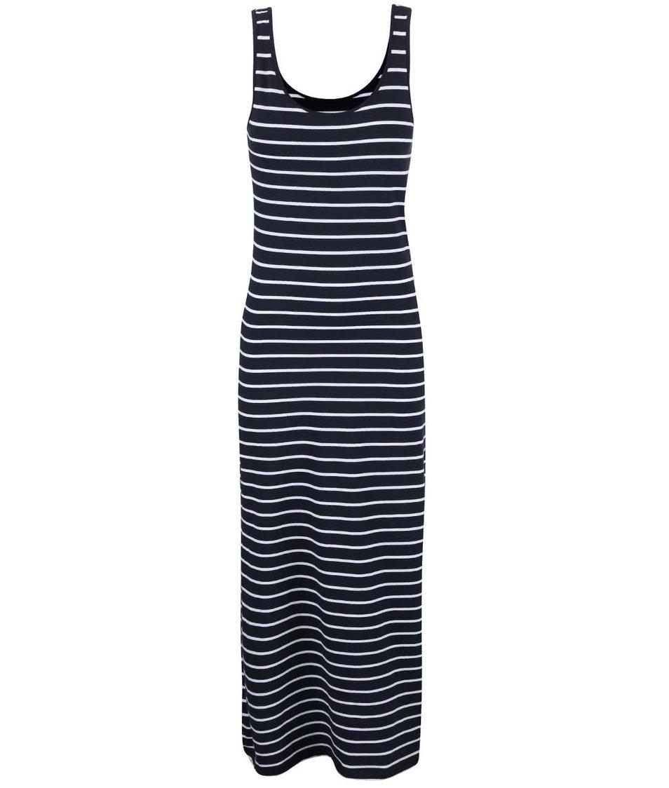 Tmavě modré pruhované šaty ONLY Abbie