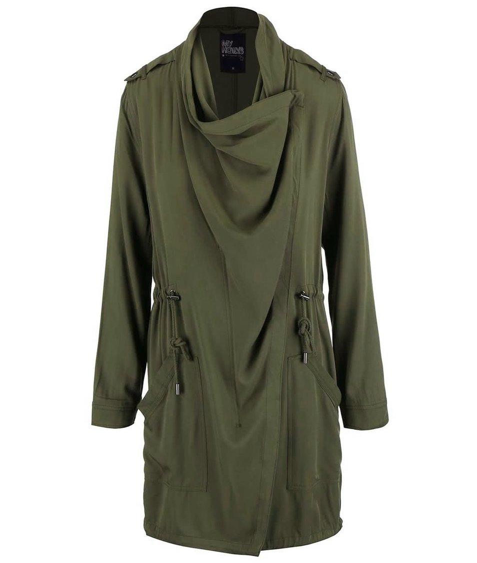 Olivový zelený kabát Haily´s Eliana