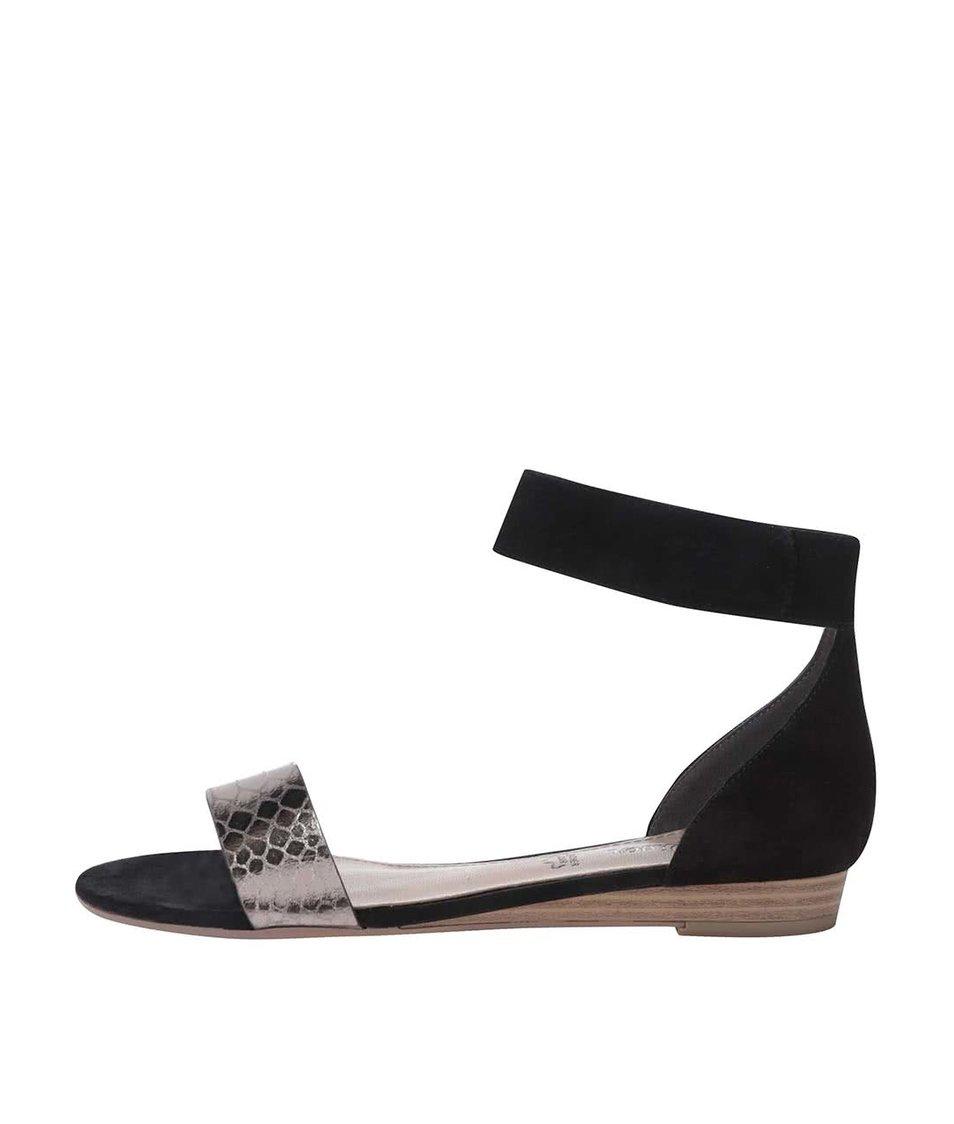 Černé sandály s páskem kolem kotníku s.Oliver