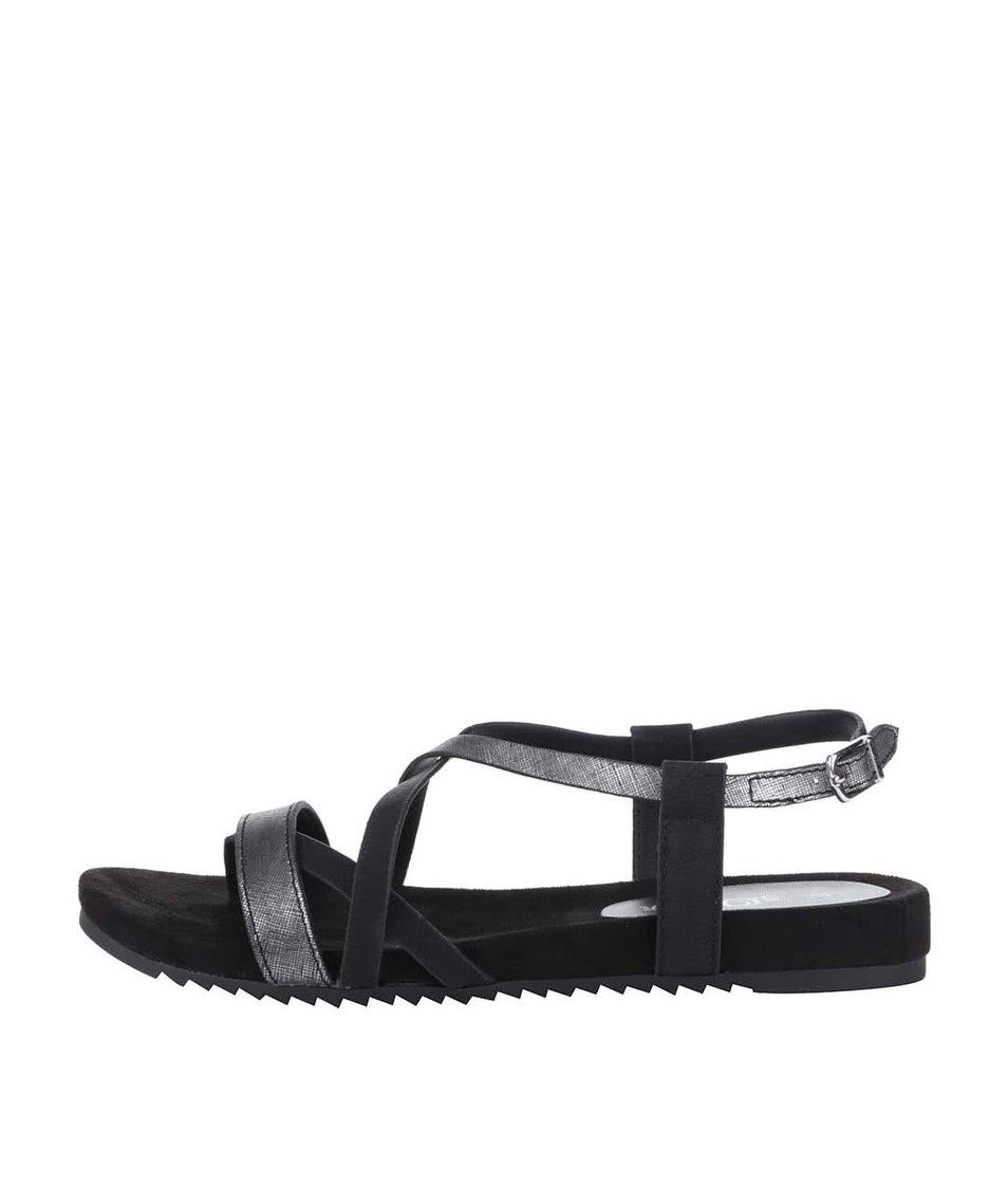 Černé páskové sandály s.Oliver