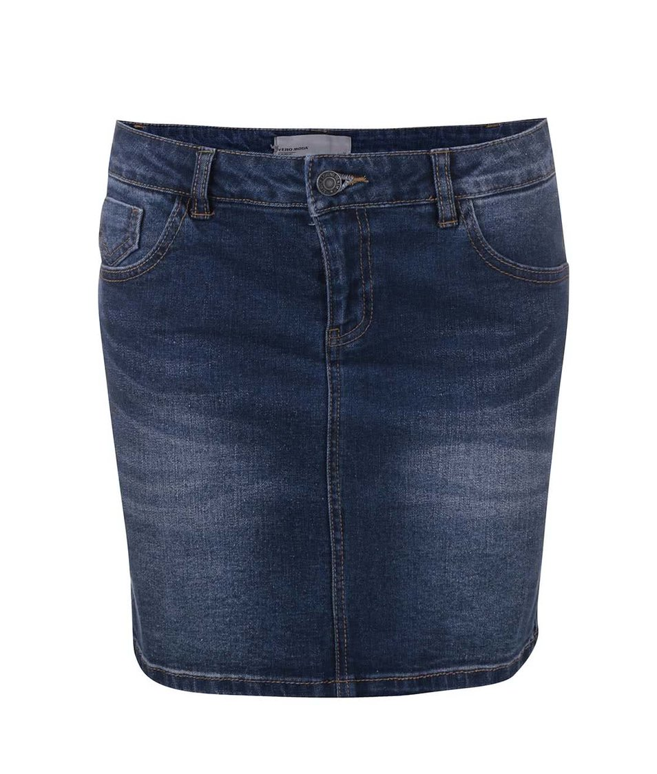 Modrá džínová sukně Vero Moda Be Lea