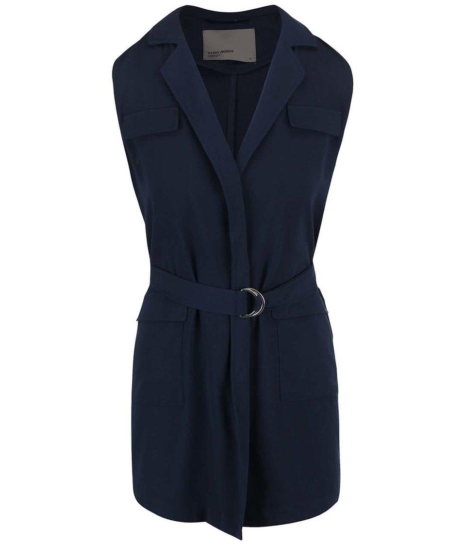 Tmavě modrá vesta s páskem Vero Moda Ea