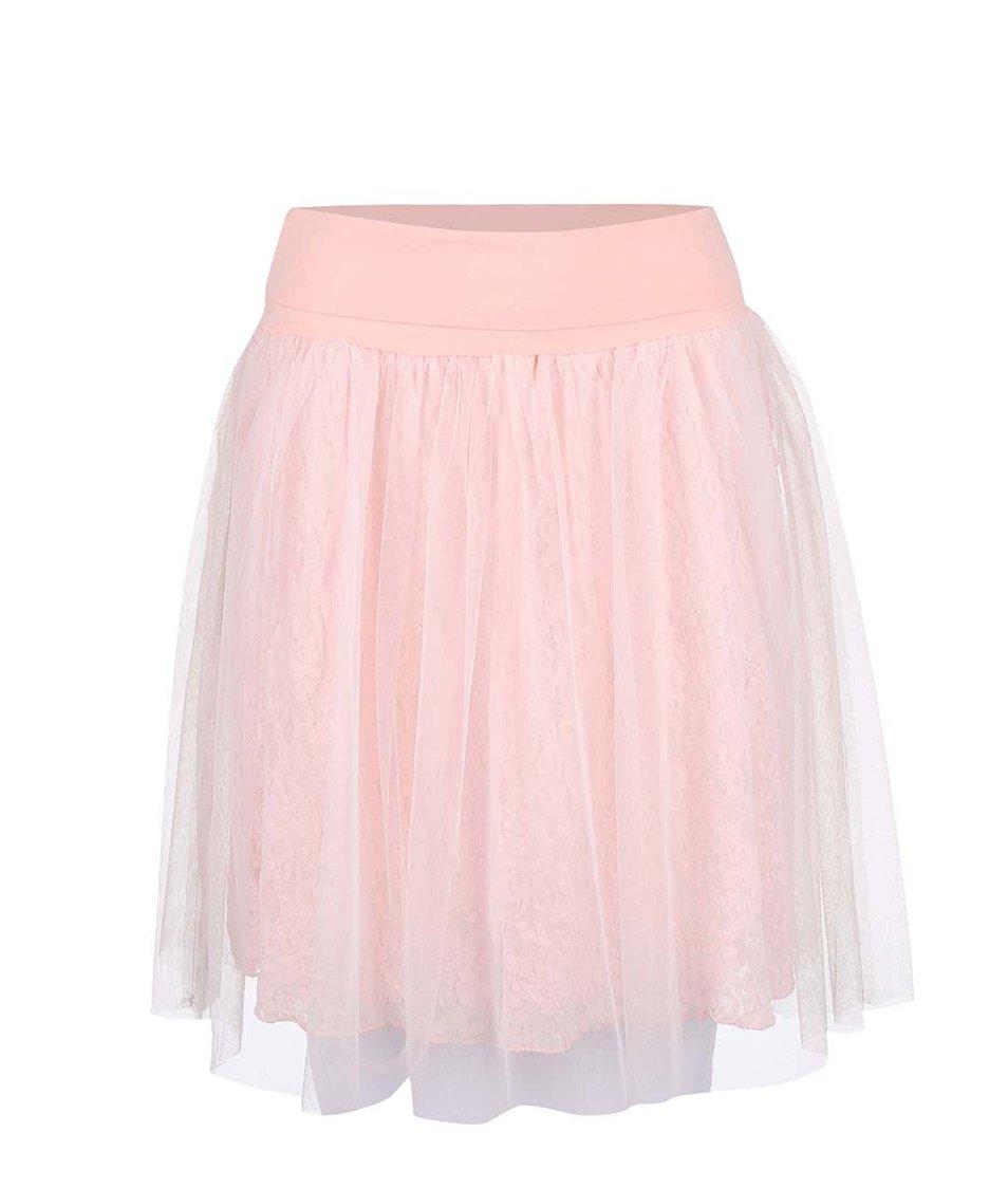 Světle růžová taneční sukně DEHA