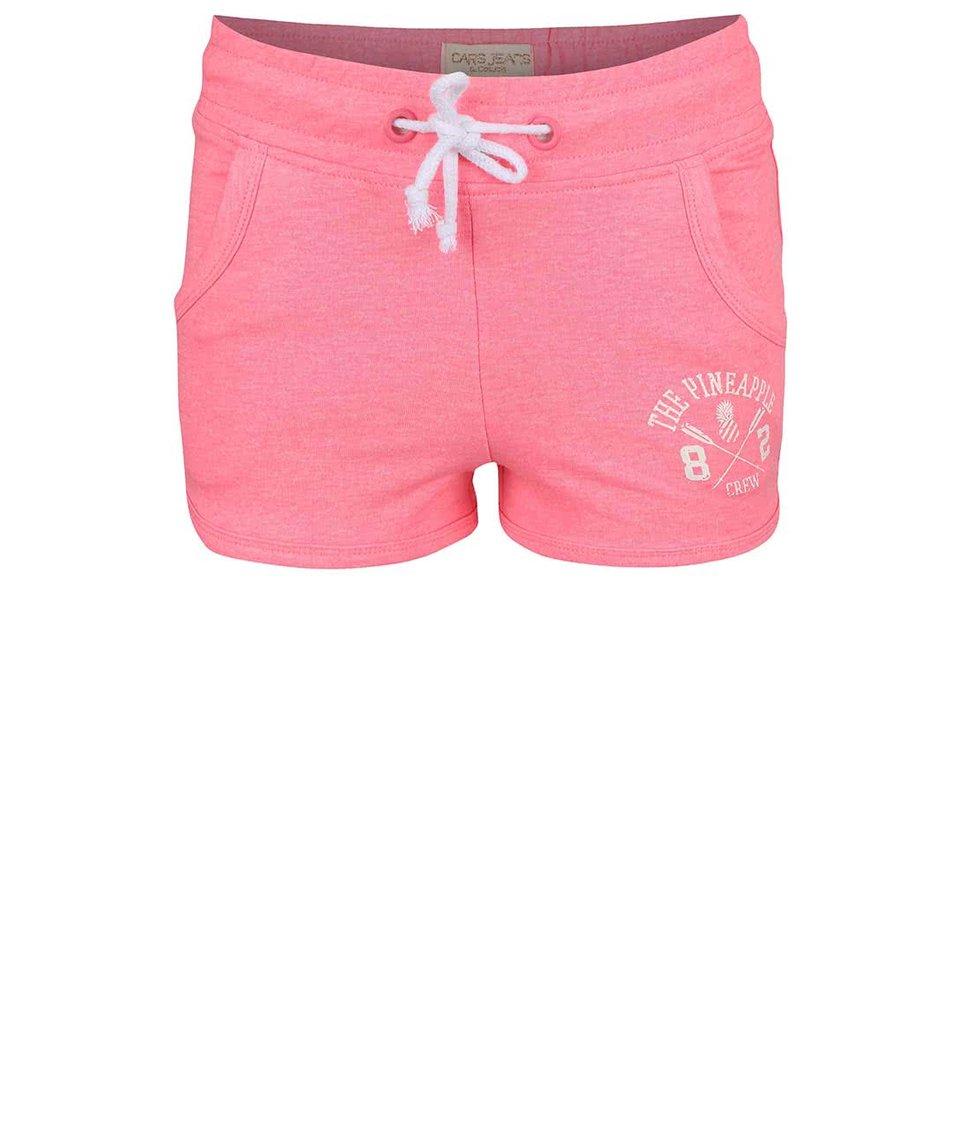 Neonově růžové holčičí šortky Cars Jeans Shorty