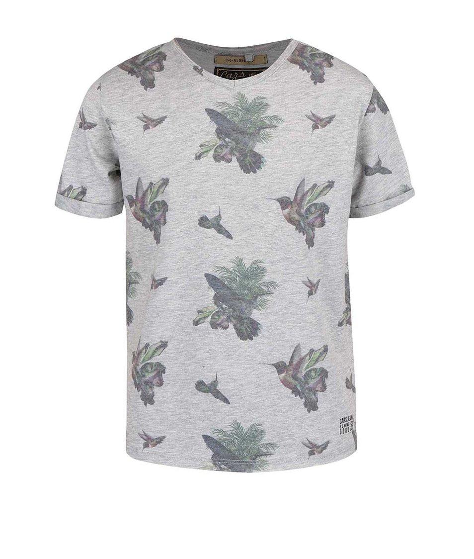 Šedé klučičí tričko s ptáčky Cars Jeans Poggio