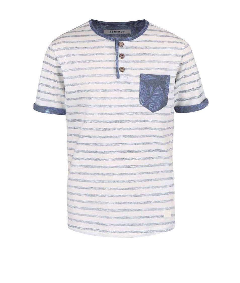 Bílo-modré klučičí tričko s kapsičkou Cars Jeans Dello