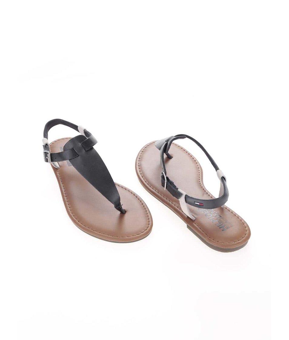 4481a1eb860 Bílo-modré dámské kožené sandálky Tommy Hilfiger - SLEVA!